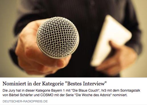Verleihung des deutschen Radiopreises in Hamburg