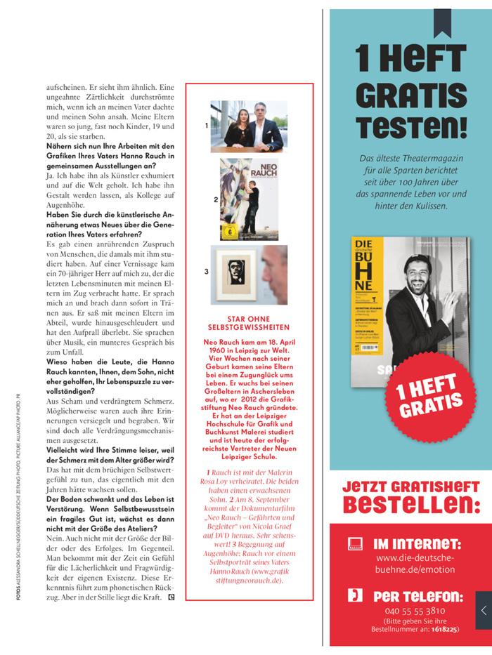 Neo Rauch über Rückzug im Interview mit Bärbel Schäfer