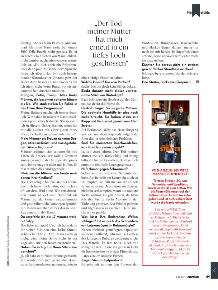 Torsten Sträter über Männlichkeit im Interview mit Bärbel Schäfer