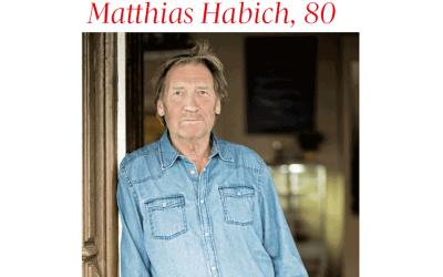 """Matthias Habich: """"Wir suchen doch alle etwas"""""""